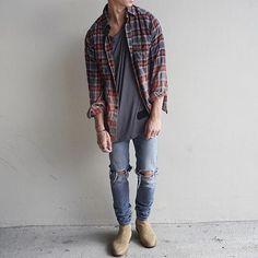 """#BestOfStreetwear on Instagram: """"Be sure to follow @streetwearde for daily fashion posts. #BestOfStreetwear  Flannel - SLP Tee - Alexander Wang Jeans - APC Paris Shoes -…"""""""