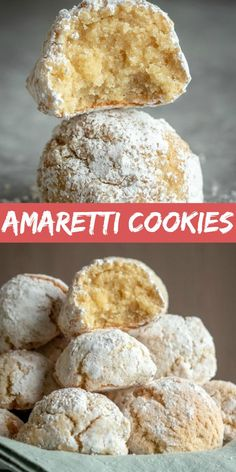 almond cookies Amaretti Cookies are small gluten and dairy-free cookies made with egg whites, almond flour, and sugar. The cookies can range from crispy like biscotti, to an almost chewy texture all while having the most amazing almond flavor and aroma. Amaretti Cookie Recipe, Amaretti Cookies, Chocolate Chip Shortbread Cookies, Almond Flour Cookies, Toffee Cookies, Almond Flour Recipes, Spice Cookies, Yummy Cookies, Brownie Cookies