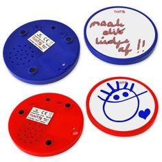 Message Discs: Schrijf en spreek je berichtje in>Creatief speelgoed>Alle Producten>Apart en vernieuwend speelgoed, webwinkel TrendySpeelgoed.nl
