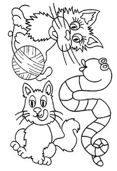 Cats coloring page 28