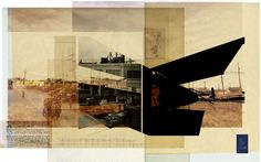 ETHNO/City Layers of Urban Alterity by J Cameron Ringness, via Behance Landscape Architecture Portfolio, Architecture Drawings, School Architecture, Landscape Architects, Architect Drawing, Collage Drawing, Photoshop, Cool Sketches, Photomontage
