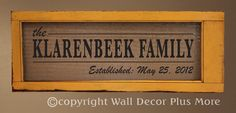 Family Name and Established Date Personalized Wall Decal 36x10 - Easy DIY vinyl project