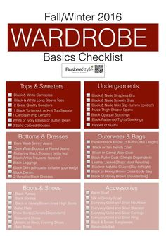 Fall & Winter Wardrobe Basics Checklist by Erin Busbee, Fashion Blogger and YouTuber | Busbeestyle.com