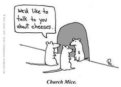 This is an image of mice trying to spread the word about cheeses, which symbolizes religious followers who go around trying to spread the word of God. I chose this image because people will go door to door to spread word of their God to others. This image can relate to how on campus there are people passing out bibles and pamphlets about God.