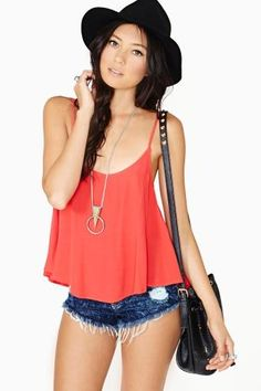Wild And Free Tank in Red