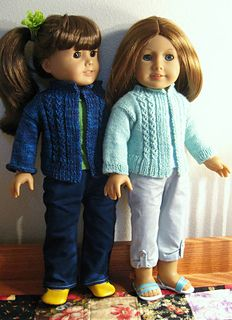 """This cardigan fits American Girl Dolls as well as most 18"""" dolls."""