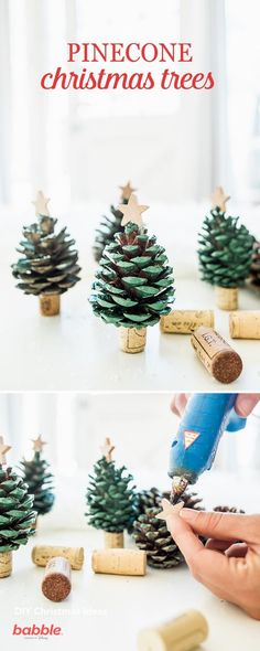 Askarteluja kävyistä Christmas Crafts For Kids, Diy Crafts For Kids, Fun Crafts, Christmas Diy, Christmas Ornaments, Holiday Tables, Pine Cones, Have Fun, Holiday Decor