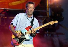 Eric Clapton and his funny guitar