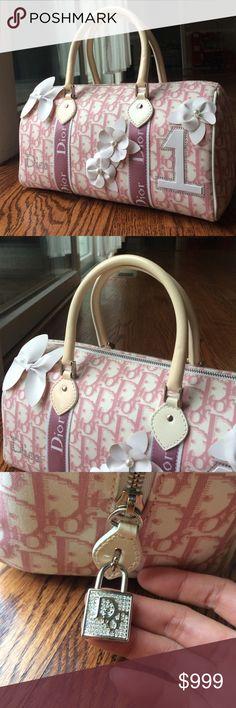 Christine Dior pink denim bowling bag NWT. Christian Dior BagsBowling ... 0c9f99f96b