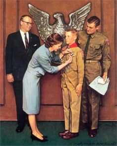 Norman Rockwell  [ My own son is a 4th generation   Eagle Scout  and very proud of that. ]