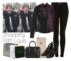 """""""Shopping With Louis"""" by the4dipshits ❤ liked on Polyvore featuring Topshop, Gucci, Zara and Givenchy"""