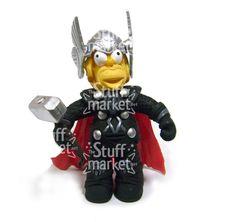 Thor Simpsonized - Parody Figure