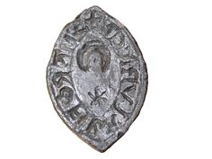 Seal matrix Seal matrix, engraved with a star and crescent. There is an inscription in Lombardic letters around the edge: 'S' MARG' FIL ALVRADI', meaning 'seal of Margaret daughter of Alfred'. This seal matrix seems to belong to a medieval businesswoman who would have used the matrix to press into wax to seal and authenticate documents. Production Date: Early Medieval; 13th century