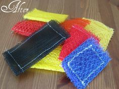 Homemade Pot Scrubbers using old onion bags