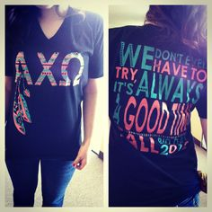 My last bid day shirt! Wah! AXO