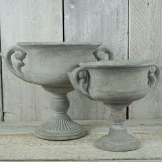 Stone Trophy Planter | Satchville Gift Co - Concrete Urn