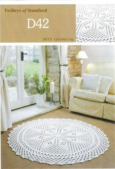 Crocheted Rugs - I am sure I would never have to do this and it would never last in white but it is pretty none-the-less