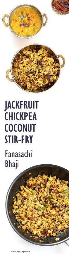 Jackfruit Chickpea Coconut Stir Fry. #Vegan #Glutenfree #Soyfree
