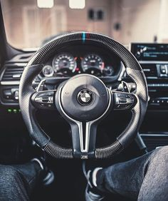 The all Carbon BMW M Steering wheel from @themaverique and @axcil #bigtoys