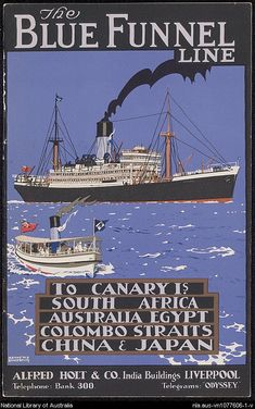 Shipping - Blue Funnel Line : ephemera material collected by the National Library of Australia