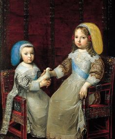 Charles Beaubrun (Charles Bobrun) (1604–1692), Portrait of Louis XIV (1638-1715) with his brother Philip of Orleans