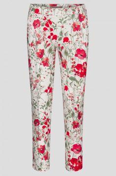 Spodnie w kant z kwiatowym wzorem | ORSAY