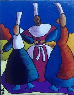 Fabi, Les 3 danseuses, 24x19 cm 2F