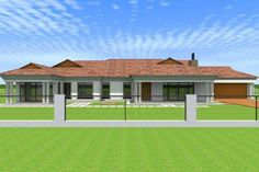 Overall Dimensions- x 2 Car Garage Area- Square meters Round House Plans, Tuscan House Plans, Free House Plans, Modern House Plans, House Floor Plans, Four Bedroom House Plans, Family House Plans, Flat Roof House, Facade House