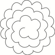 Rolling rose die by c c designs Felt Flower Template, Paper Flower Patterns, Flower Svg, Leaf Template, Flower Crafts, Owl Templates, Crown Template, Applique Templates, Felt Patterns
