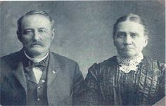 Portrait of William J. Mathie and his wife Eliza Ella Hershey. William is my great-great-grandfather's brother.