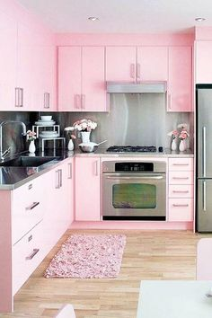 We're Blushing - 15 Times Painted Kitchen Cabinets Changed Everything - Photos