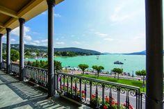 Experience Carinthia's most luxurious side at the elegant castle Schlosshotel Velden Beach Club, Jet Set, Resorts, Carinthia, Medical Spa, Interesting History, Hotel Spa, Wonderful Places, Austria