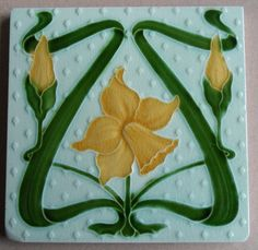 Relief moulded design from Alfred Meakin c1905/6, tile reference in the book Art Nouveau Tiles with Style, by Robert Smith.