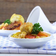 Couscous with cod balls