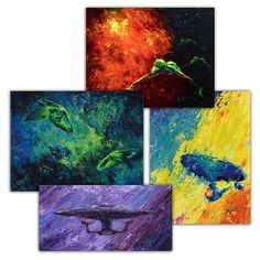 Star Trek prints were made by artist Jeff Foster in an impressionist styl