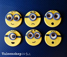 Despicable Me Minion cupcake toppers / boys by Taleenshop on Etsy, $23.99
