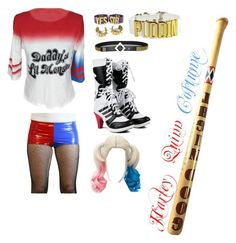 """Harley Quinn costume"" by feefeerocks ❤ liked on Polyvore featuring COS"
