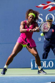 Serena Williams.  Colorful.
