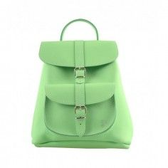 Grafea Charlie Baby Green Leather Backpack