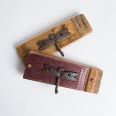 Natural Coat And Hat Rack With Brass Hooks Made From Genuine Oak Wine Barrel Stave