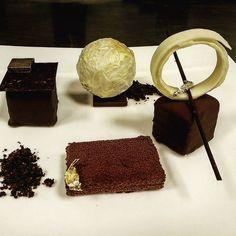 Elements of @valrhonafrance | emulsion guanaja cake | jivara yuzu cremux valvet spray | opalys and dulce namaleka sphere | careibe mouse dip | ottucan sorbet and foam | chocolate crumble  #valhornachocolate #guanaja #simplybeautiful #myfrench #mychocolate #myfoodstory #mydubai #sofitel #storyofmylife #newyork #asianpastrycup #indonesian #lyon #art #brocklyn #opalys #chocolatier #chocolate #coupedumonde #dubailife #kitchenlife #pastryinspiration #pastryelite #pastry #gastronomy #cheftalks…
