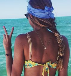 head band wrap in back Summer Sun, Summer Of Love, Summer Beach, Summer Vibes, Summer Goals, The Beach, Beach Bum, Beach Hair, Kourtney Kardashian