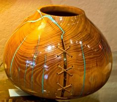 wood turned vase with stitches - Yahoo Image Search Results