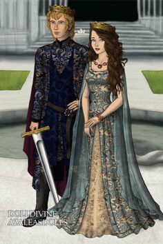 King Aaron and Queen Dawn ~ by Maca ~ created using the LotR Hobbit doll maker   DollDivine.com