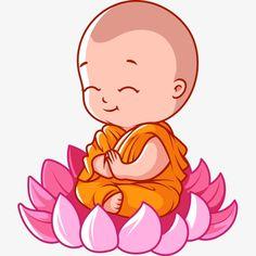 Cartoon monk lotus seat PNG and Vectorcom Buddha Drawing, Buddha Painting, Buddha Art, Baby Buddha, Little Buddha, Cartoon Cartoon, Buddha Birthday, Small Buddha Statue, Buddha Thoughts