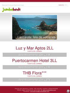 ¡Conoce la isla de volcanes, Lanzarote: Puerto del Carmen dsd 16€ pax/día en SA! ultimo minuto - http://zocotours.com/conoce-la-isla-de-volcanes-lanzarote-puerto-del-carmen-dsd-16e-paxdia-en-sa-ultimo-minuto/