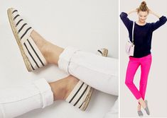 Smart and Trendy #Espadrilles – Make the Best of This Trend -  Striped Espadrilles | #FashionLady