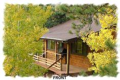 Honeymoon Colorado Mountain Cabins- Bear Foot Getaway cabin