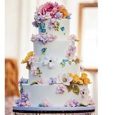 Wedding cake colors flowers