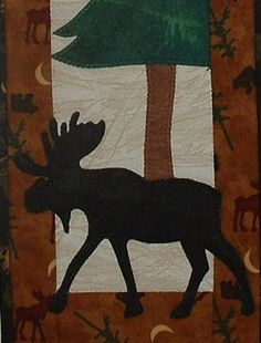Moose on the Loose - Quilted Lodge Style Wall Hanging Pattern